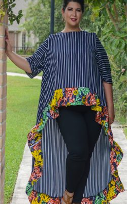 Lilly highlow top front