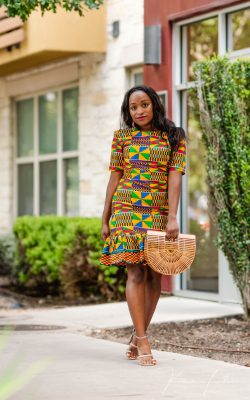 Paige African Print Dress